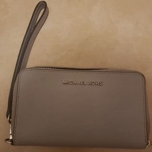Authentic Michael Kors large wristlet/wallet